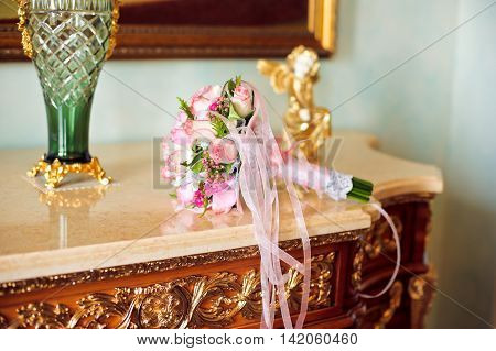 Bouquet Of Small Pink Roses