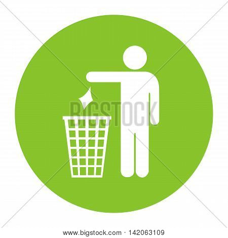 No littering vector icon illustration isolated on white background