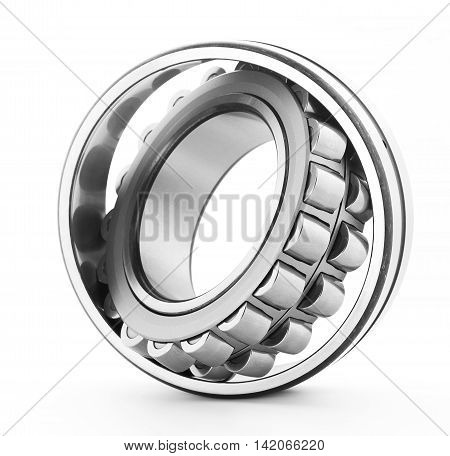 Spherical Roller Big ball Bearing on white background