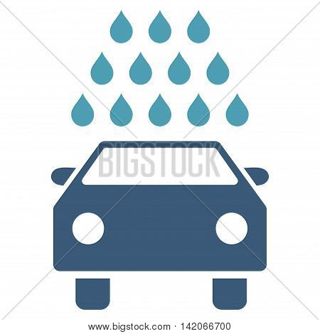 Car Wash vector icon. Car Wash icon symbol. Car Wash icon image. Car Wash icon picture. Car Wash pictogram. Flat cyan and blue car wash icon. Isolated car wash icon graphic.