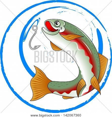 Fishing Club Logo Template. vector illustration logo design