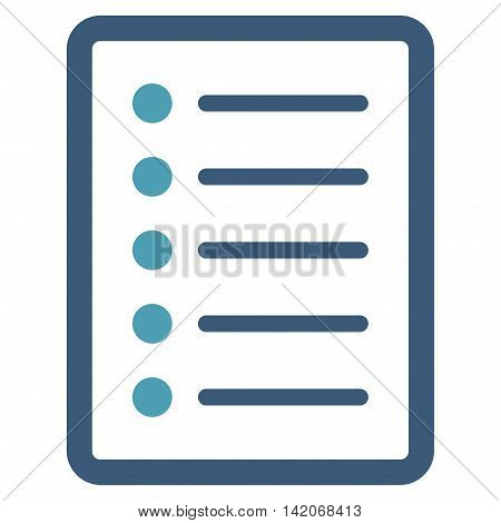 List Page vector icon. List Page icon symbol. List Page icon image. List Page icon picture. List Page pictogram. Flat cyan and blue list page icon. Isolated list page icon graphic.
