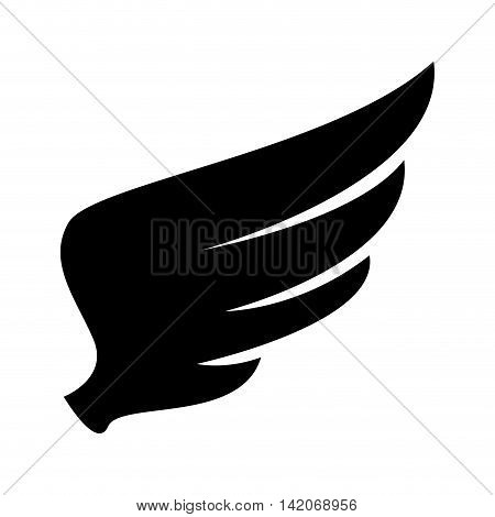 wing animal angel bird heaven fly nature freedom sign icon vector graphic isolated and flat illustration