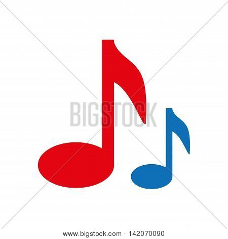 note music musical symbol vector graphic isolated and flat illustration