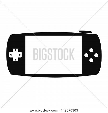portable game gaming buttons arrows screen entertainment electronic technology devices vector graphic isolated and flat illustration