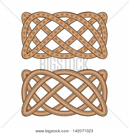 Intertwined with the Roman ornament pattern. Vector illustration.