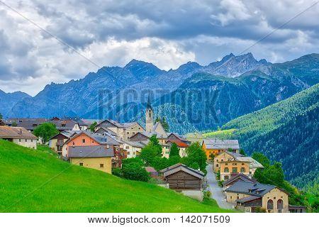 Village of Guarda Switzerland Village of Guarda Switzerland in the summer