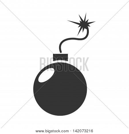 bomb explosive detonation icon spark detonation vector graphic isolated and flat illustration