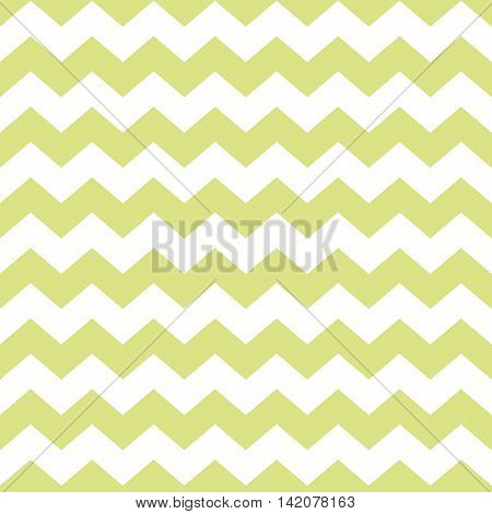 Zig zag chevron green and white tile vector pattern or wallpaper background