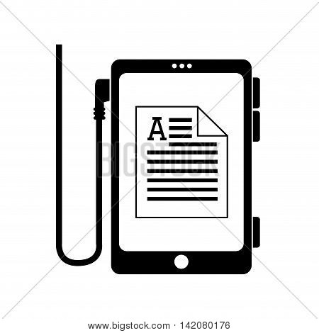reader electronic document letter smartphone pocket ebook ereader page book digital vector graphic isolated and flat illustration