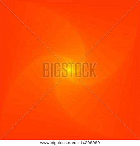 Orange Logarithmic Spiral