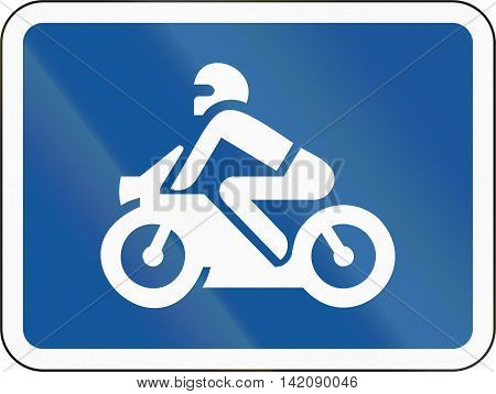 Road Sign Used In The African Country Of Botswana - The Primary Sign Applies To Motorcycles