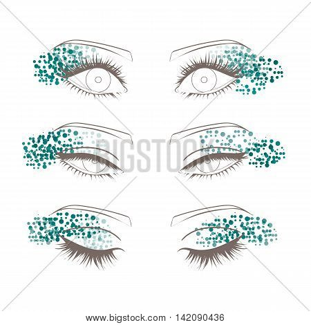 Female Eyes Outline