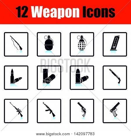 Set Of Twelve Weapon Icons