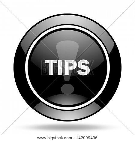tips black glossy icon