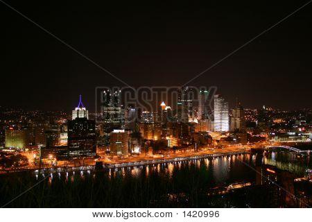 Pittsburgh Pennsylvania At Night