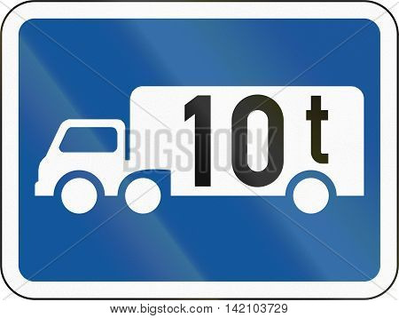 Road Sign Used In The African Country Of Botswana - The Primary Sign Applies To Goods Vehicles Excee