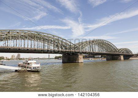 Hohenzollern Bridge over the Rhine river in Cologne North Rhine-Westphalia Germany