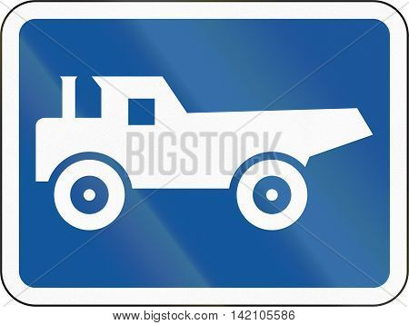 Road Sign Used In The African Country Of Botswana - The Primary Sign Applies To Construction Vehicle