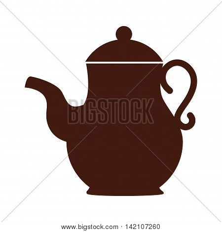 tea pot tea drink icon coffee liquid object kettle home vector graphic isolated and flat illustration