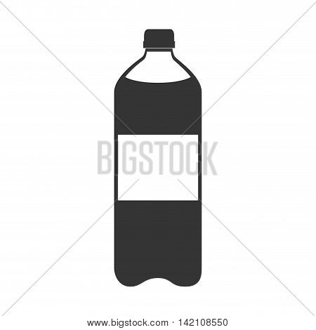 bottle soda drink liquid recipient beverage cap container vector graphic isolated and flat illustration