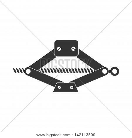 jack mechanical tool lever car hydraulic machine vector graphic isolated and flat illustration