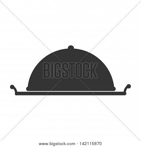 dish dining food cook hotel chef service banquet vector graphic illustration isolated flat