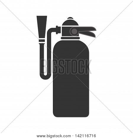 extinguisher fire prevention bottle extinguish foam object vector graphic isolated illustration
