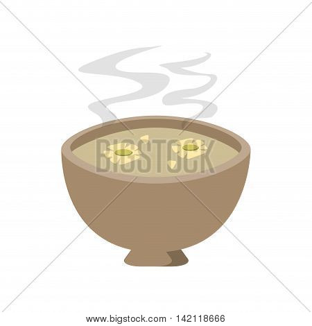 flat design cup of tea with jasmine flowers icon vector illustration