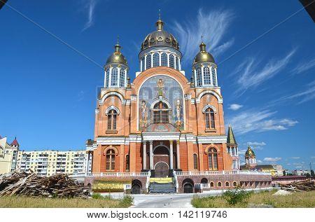 Orthodox Church in Obolon. August 10 ,2016 in Kiev, Ukraine