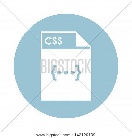 flat design CSS file icon vector illustration