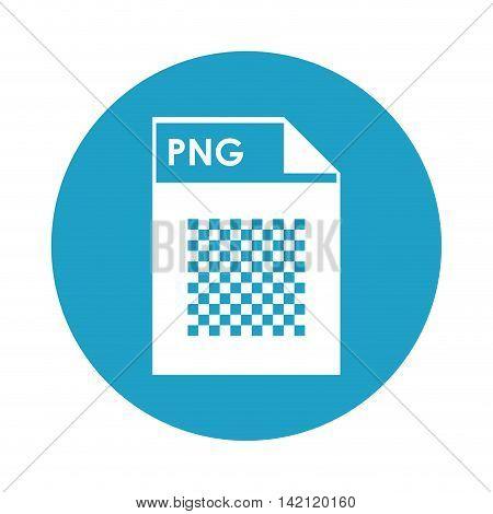 flat design PNG file icon vector illustration