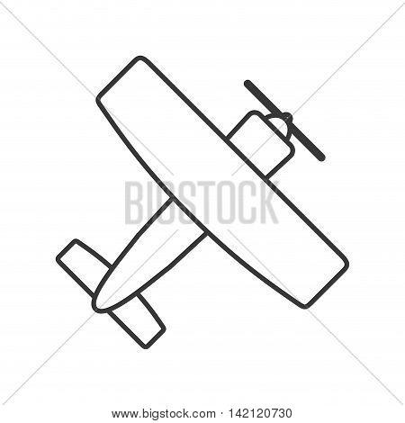 flat design aerobatic or trainer airplane icon vector illustration