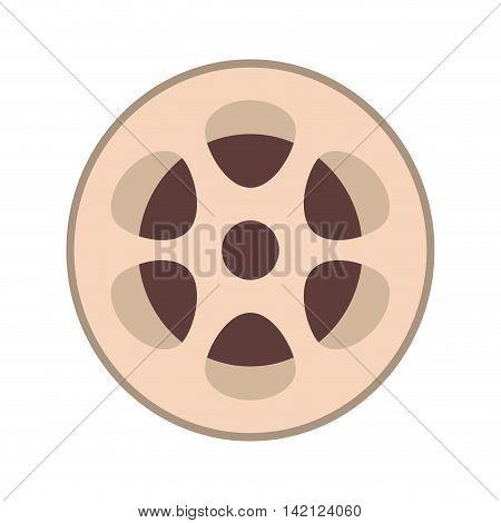 flat design film reel icon vector illustration