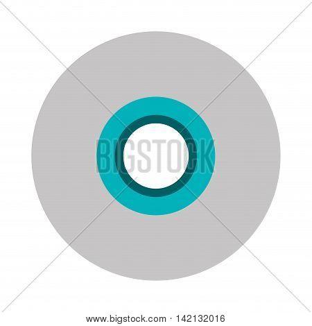flat design single cd icon vector illustration
