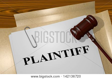 Plaintiff - Legal Concept