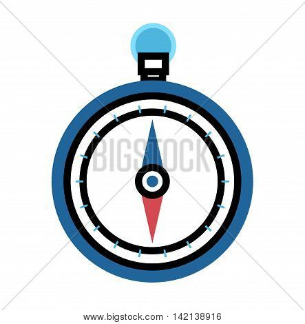 Vintage brass travel compass isolated geography east direction travel vector illustration. Compass navigation journey compass. Cartography flat compass icon latitude equipment.