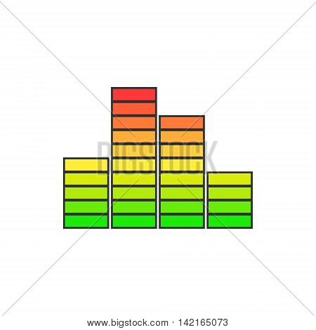 Chart, Graph Growth Isolated on White Background ,Vector Illustration