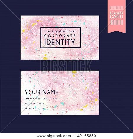 Adorable Pink Business Card Template Design