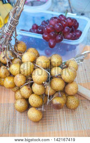 Close up fresh Longan fruit Thailand, healthy food