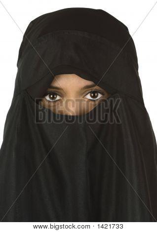 Beautiful Woman In Niqab Veil 2
