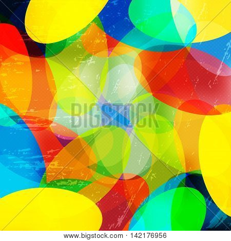 bright color abstract geometric background vector illustration