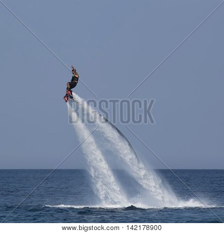 Unidentified Turkish Man Hovered Above The Water