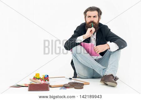 Bearded Man Teacher