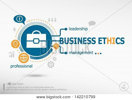 Business Ethics Concept For Creative Process.