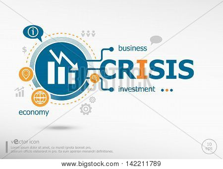 Crisis Concept For Creative Process.