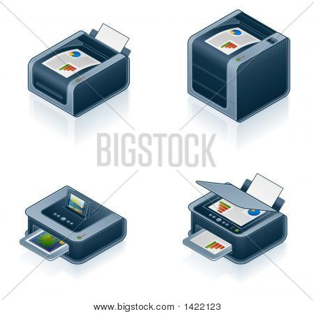 Computer Hardware Icons Set - Design Elements 55O