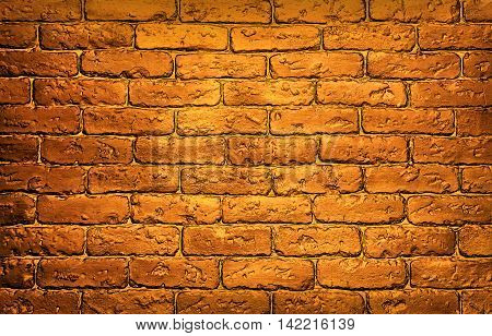 bronze brick wall. Bronze brick wall background