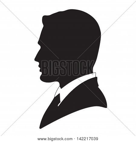Vector illustration businessman avatar profile isolated picture
