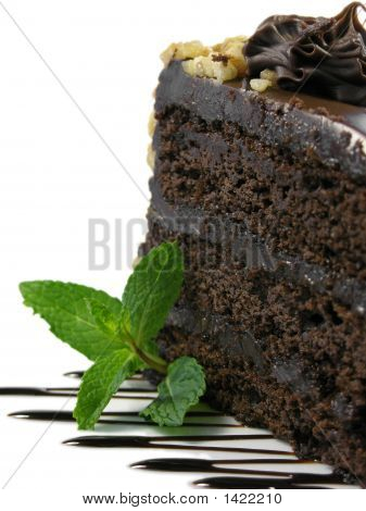 Chocolate Cake Close Up